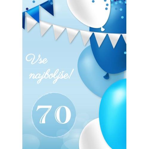 Greeting card vse najboljše 70