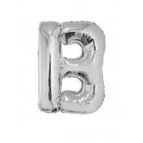 Letter B  - silver
