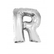 Letter R - silver