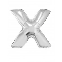 Letter X - silver