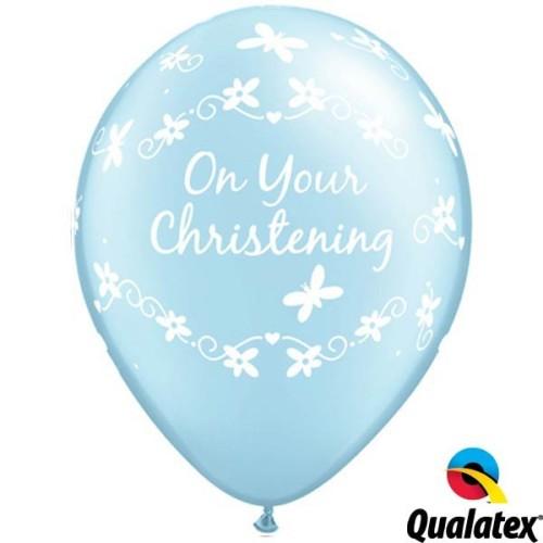 Balloon Christening Butterfliers - prl blue