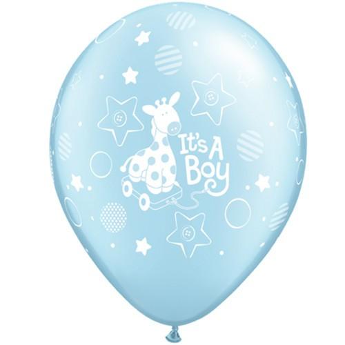 Balloon It's a boy Soft giraffe  - blue