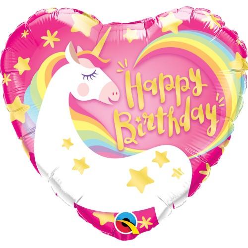 Bday magical unicorn - foil balloon