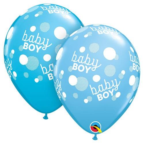 Balon - Baby boy dots modra