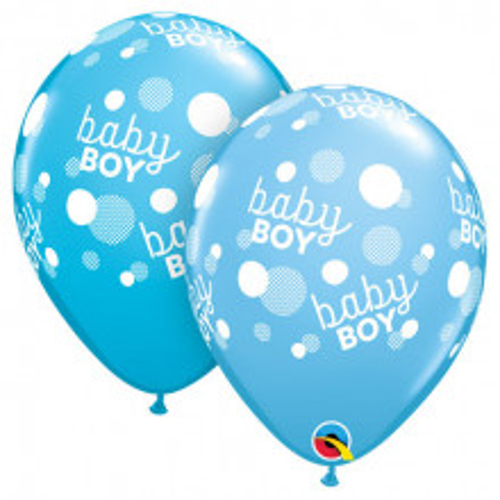 Balon - Baby boy dots blue
