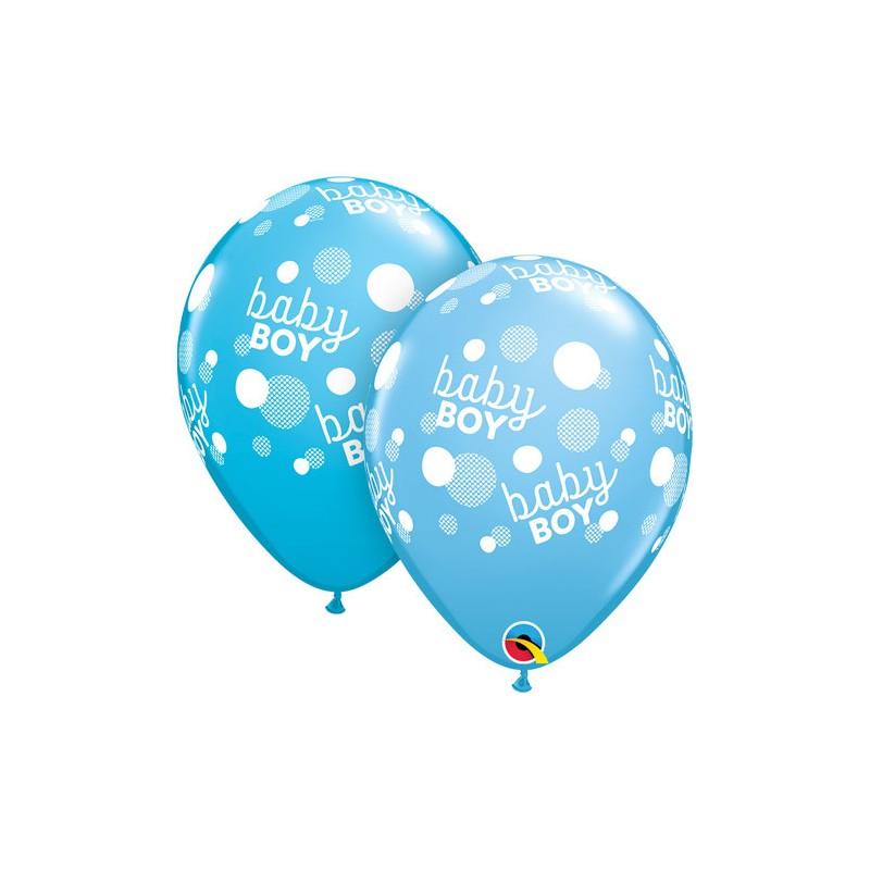 Balloon - Baby boy dots blue