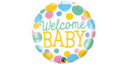 Welcome baby dots - foil balloon