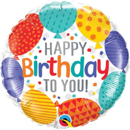 Happy Bday to you balloons - Folienballon