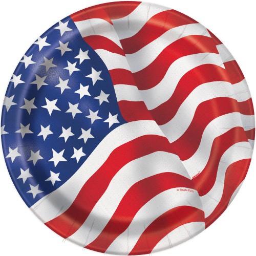 USA plates 18 cm