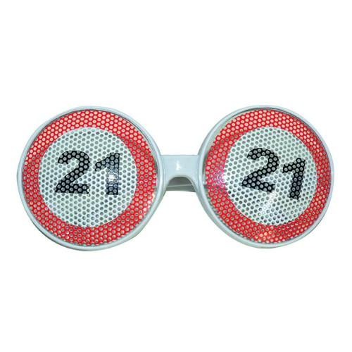 Prometni znak 21 očala