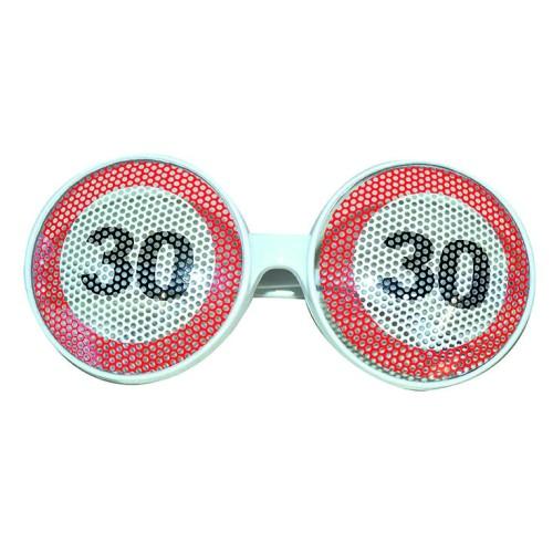 Traffic sign 30 glasses
