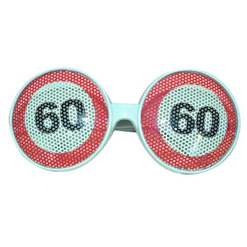 Traffic sign 60 glasses