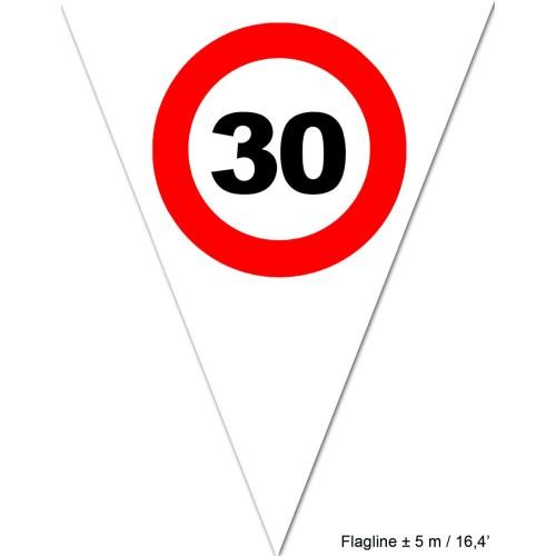 Prometni znak 30 zastavice
