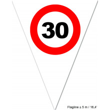 Traffic sign 50 flag banner