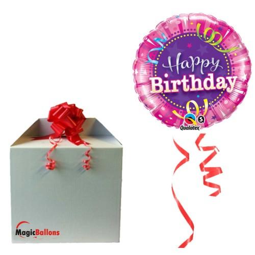 Balloon  Birthday Hot Pink