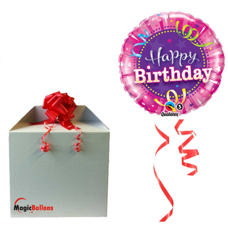 Birthday Hot Pink - folija balon v paketu