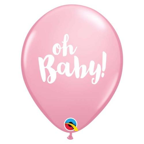 Ballon - OH Baby! pink