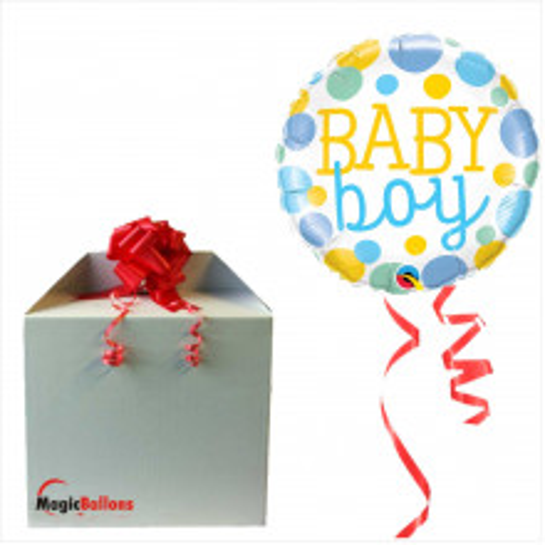 Baby Boy Dots- folija balon u paketu