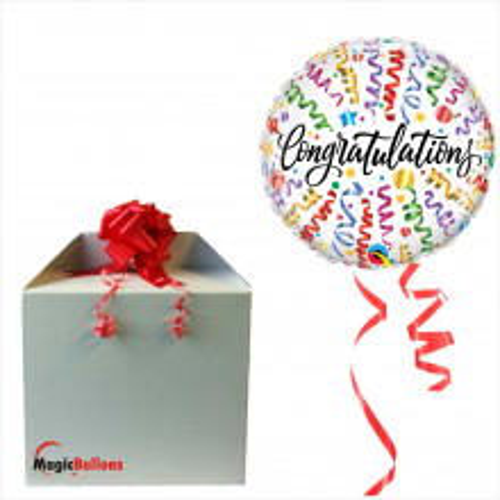 Congratulations streamers - Folienballon in Paket