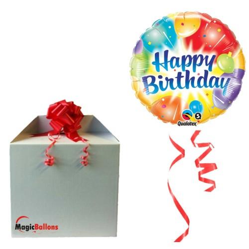 Balloon  Birthday Balloons Ablaze Blue