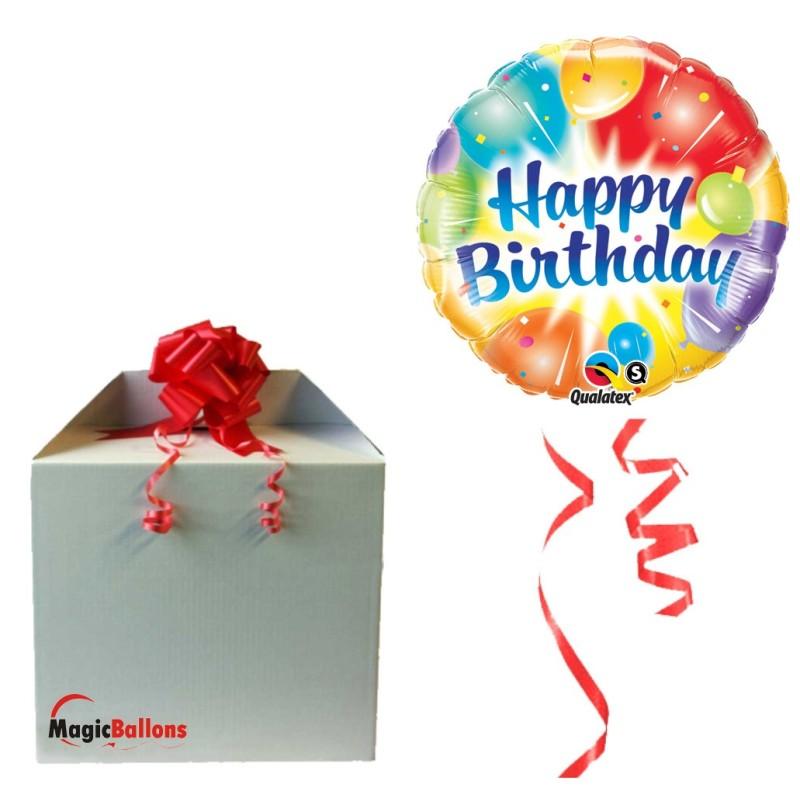 Birthday Balloons Ablaze Blue napihnjen