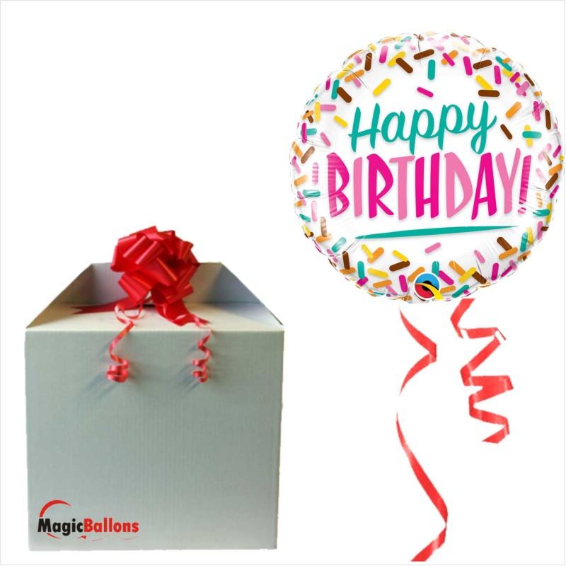 Happy Birthday Sprinkles - foil balloon