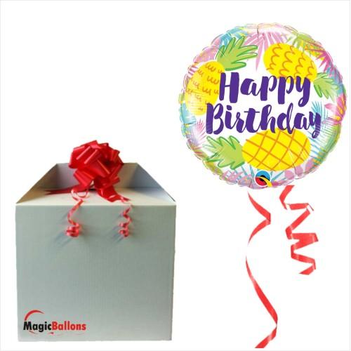 Bday Pineapples - Folienballon in Paket