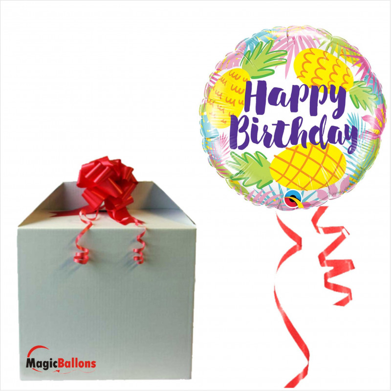 Bday Pineapples - foil balloon in a package
