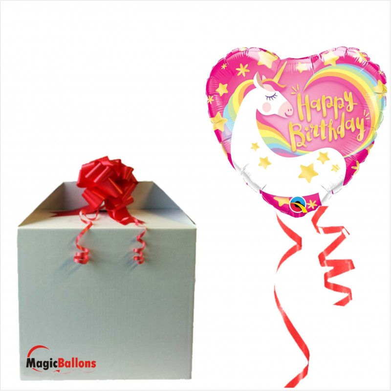 Bday magical unicorn - foil balloon in a package