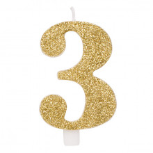 Glitter gold candle 3