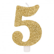 Glitter gold candle 5