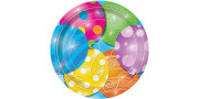 Twinkle Balloons Plates 18 cm