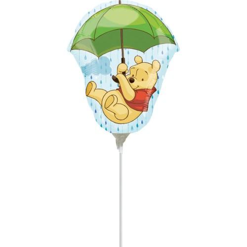 Winnie the Pooh - foil balloon on a stick