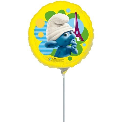 Smurf Movie - foil balloon on a stick