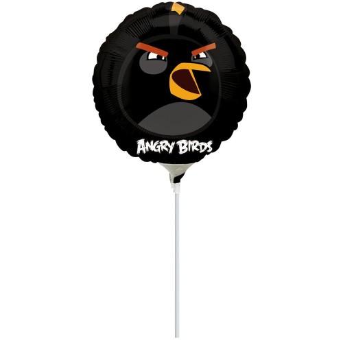 Black Bird - foil balloon on a stick