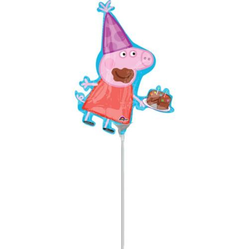 Peppa Pig - foil balloon on a stick