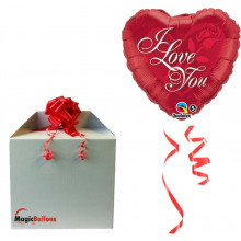 Balloon I Love You Red Rose