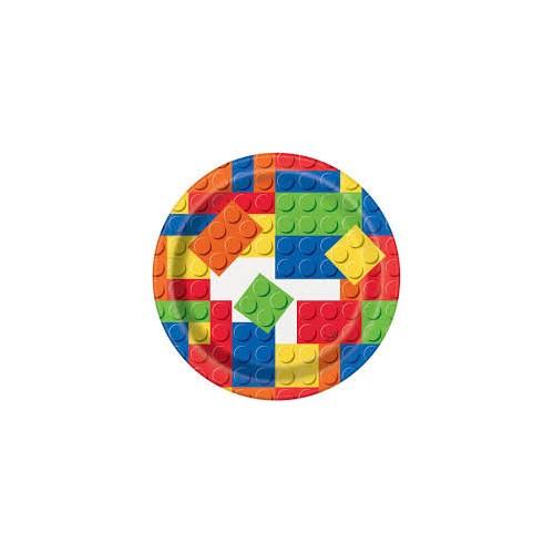 Building blocks plates 18 cm