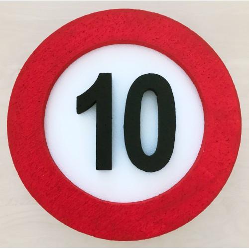 Traffic sign decoration 10
