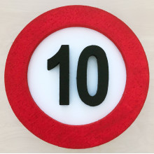 Verkehrszeichen Dekoration 10