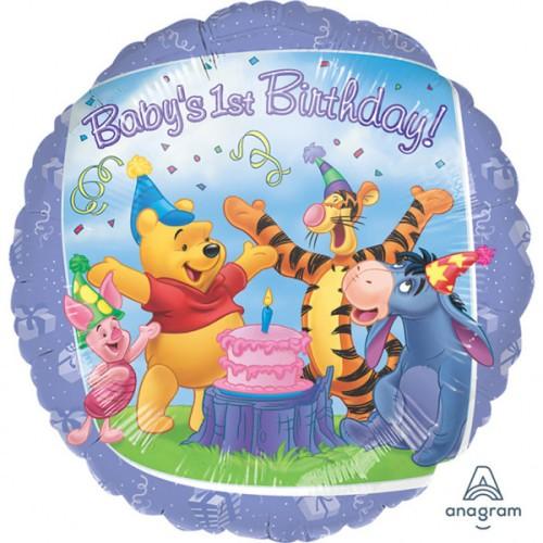 Pu in prijatelji 1. rojstni dan - folija balon