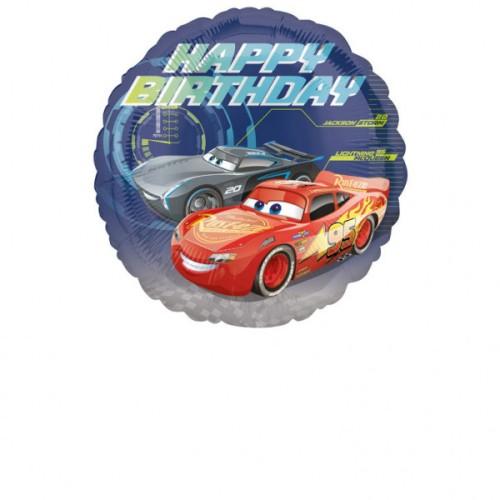 Cars Happy Birthday - foil balloon