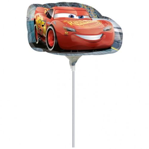 Cars Lightening McQueen - foil balloon on a stick