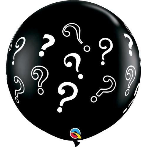 Große bedruckte Ballon - Question Marks