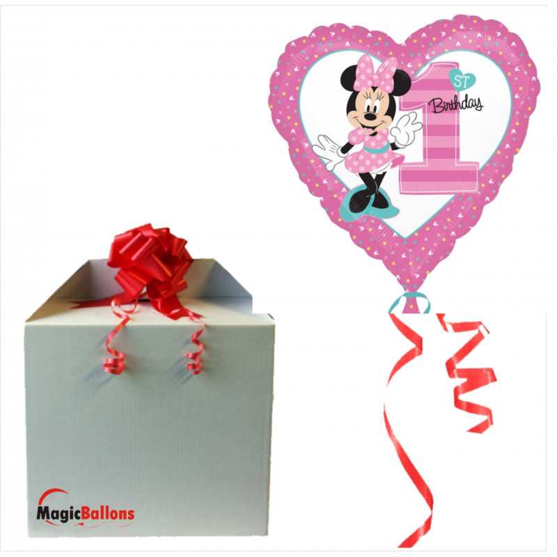 Minnie 1st Birthday - foil balloon in a package