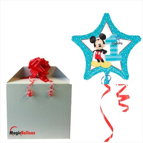 Mickey 1. rojstni dan - folija balon v paketu