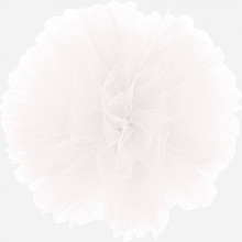 Puff Pom tulle decoration - white