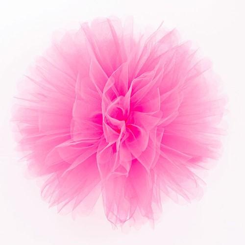 Puff Pom tulle decoration - rose