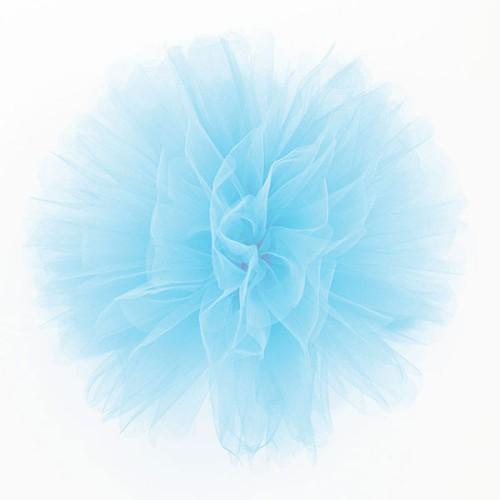 Puff Pom tulle decoration - pale blue