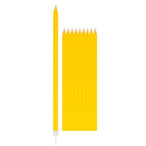 Sveče z držali - rumena
